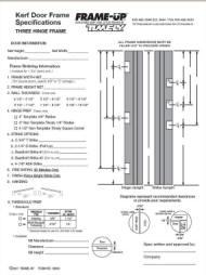 Adjustable Kerf Steel Door Frames Frame Up